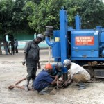 Drilling for Water in the Zaire ward of Tanzania Africa. Orphans Foundation Fund project for the community