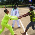Orphans Foundation Fund/CORDAID Street Children Project playing sports in Arusha Tanzania Africa
