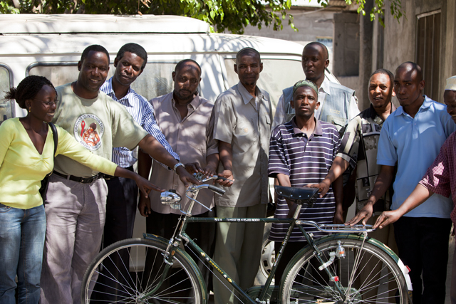 Bicycle donation to Islamic leaders in Tanzania by Orphans Foundation Fund