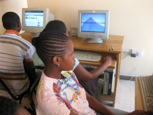 Computer school at Orphans Foundation Fund in Arusha Tanzania Africa