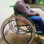 wheelchair donated to a disabled man